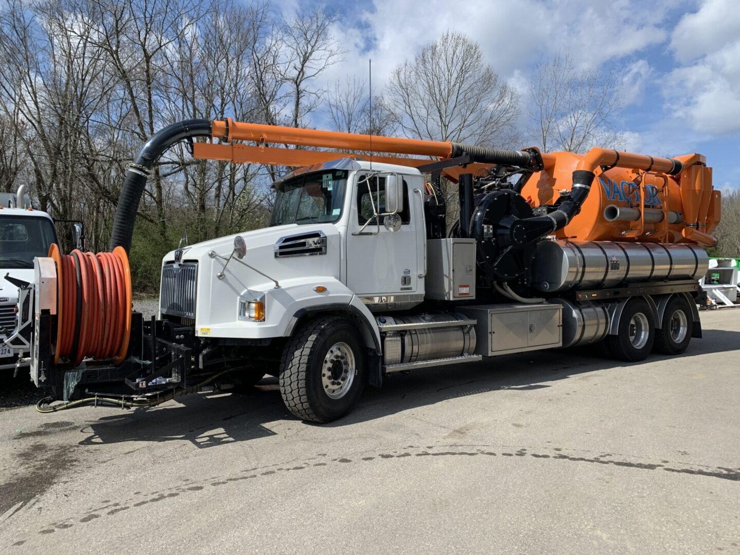 sewer truck parked for sale.